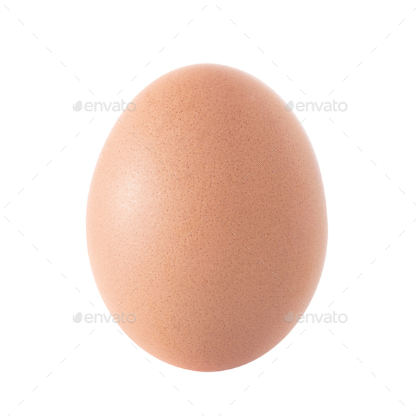 Egg over white - Stock Photo - Images