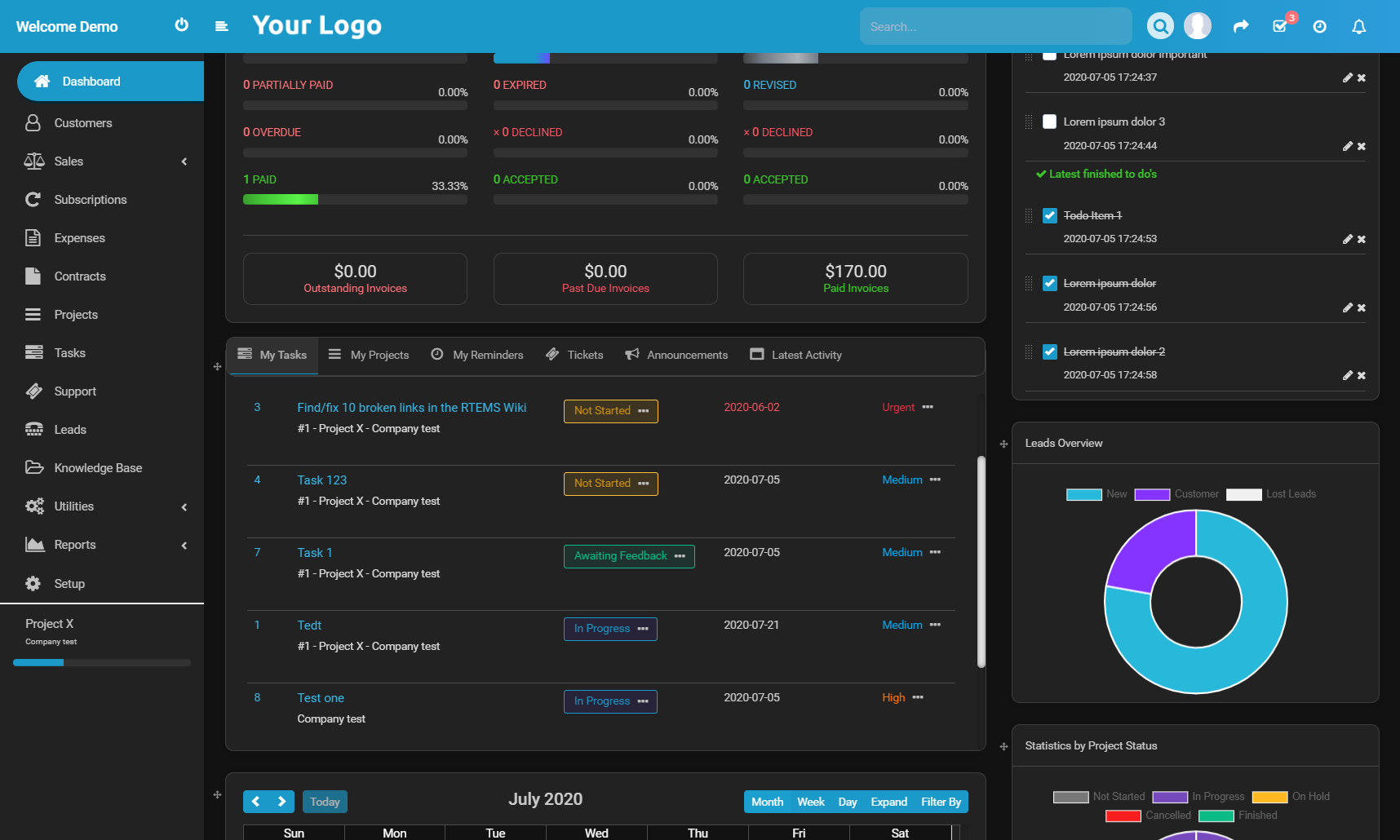 Ultimate Dark Theme for Perfex CRM