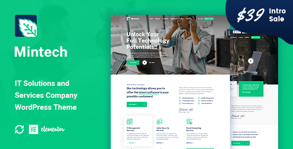 Download Mintech – IT Solutions & Services WordPress Theme Free Nulled