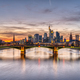 Beautiful sunset over downtown Frankfurt - PhotoDune Item for Sale