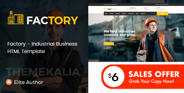 Factory - Industrial Business HTML Template