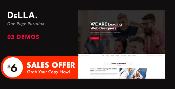 DELLA - One Page Template for Digital Agency