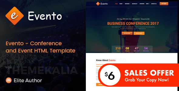 Evento - Conference and Event HTML Template