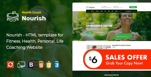 Nourish - Personal Trainer HTML Template