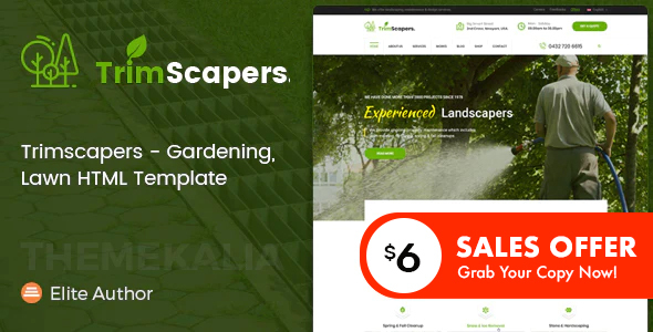 Trimscapers - Gardening and Landscaping HTML Template