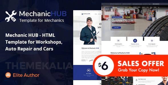 Mechanic HUB - Car Repair HTML Template