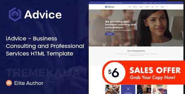 iAdvice - Business Consulting and Professional Services HTML Template