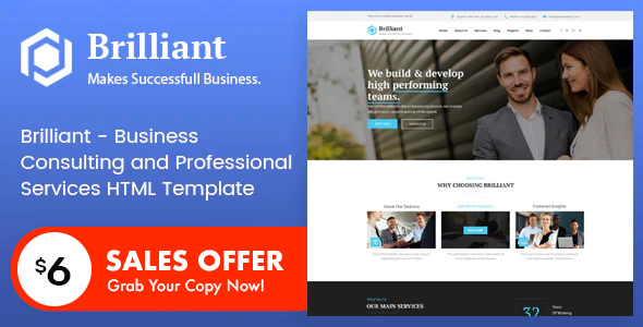 Wonderful Brilliant - Business Consulting and Professional Services HTML Template