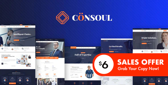 Consoul - Consulting HTML Template