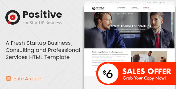 Positive - Consulting and Professional Services HTML Template
