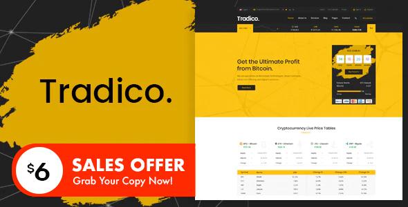 Tradico - Bitcoin Crypto Currency HTML Template