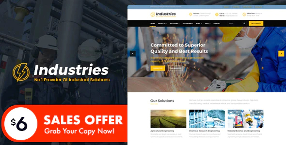 Industries - Factory And Industry Business HTML Template