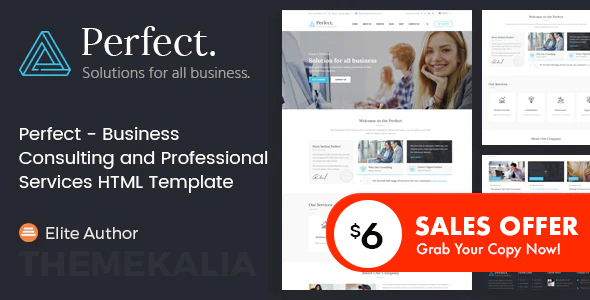 Perfect - Business Consulting and Professional Services HTML Template