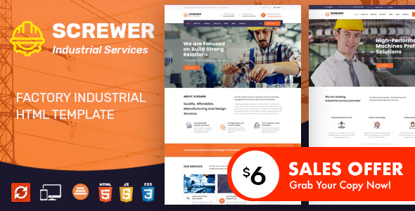 Screwer - Factory & Industrial Business HTML Template