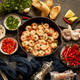 Tasty shrimp tails fried in butter with, garlic, parsley, white wine chili. With various ingredients - PhotoDune Item for Sale