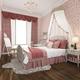 3d rendering beautiful pink pastel vintage kid bedroom - PhotoDune Item for Sale
