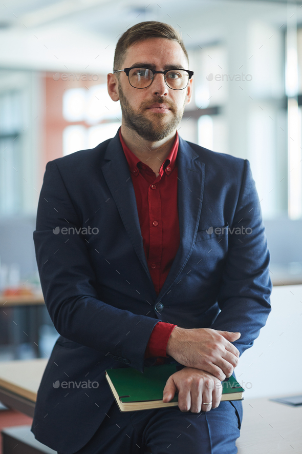 Waist Up Portrait of Mature Bearded Businessman - Stock Photo - Images