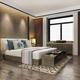 3d rendering beautiful luxury colorful vintage bedroom suite in hotel with tv - PhotoDune Item for Sale
