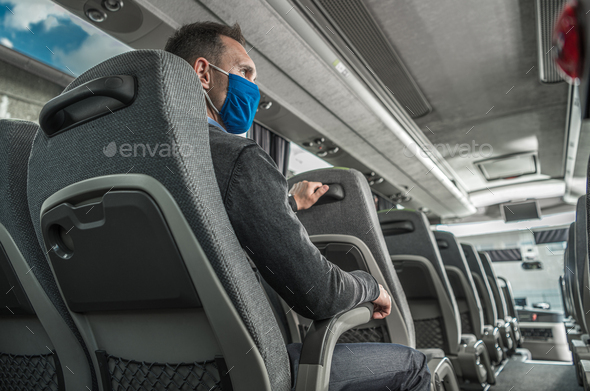 Pandemic Time Public Transportation Theme - Stock Photo - Images