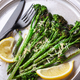 Roasted Broccolini with Lemon on the Plate. - PhotoDune Item for Sale
