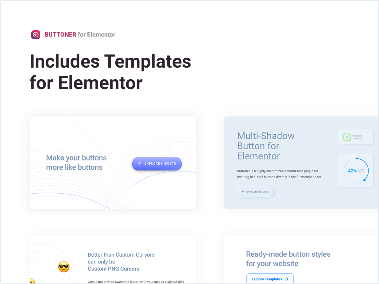 Buttoner – Multi-shadow Button for Elementor by merkulove | CodeCanyon