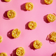 Pasta art with tagliatelle on pink background - PhotoDune Item for Sale