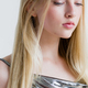 Beautiful blonde woman girl with long blond hair smooth and beauty in silver wear - PhotoDune Item for Sale