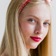 Beautiful pinup woman with long blonde hair natural on white background - PhotoDune Item for Sale
