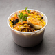 Online Food Delivery - Anda Pulao Or Egg Biryani packed in Plastic box - PhotoDune Item for Sale