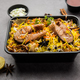 Online Food Delivery - Fish Pulao Or Biryani packed in Plastic box - PhotoDune Item for Sale