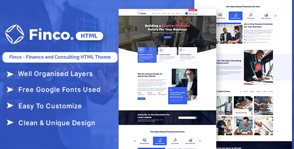 Finco - Finance and Consulting HTML Theme
