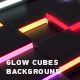 Glow Cubes Background - VideoHive Item for Sale