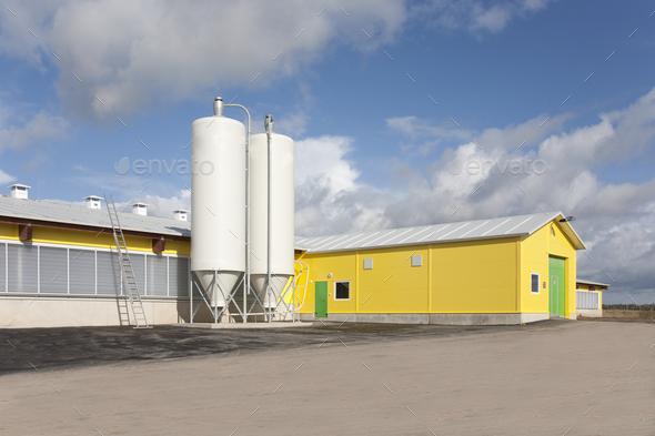 Cattle Feeding Tanks - Stock Photo - Images