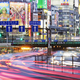 Japanese Downtown Traffic At Dusk - PhotoDune Item for Sale