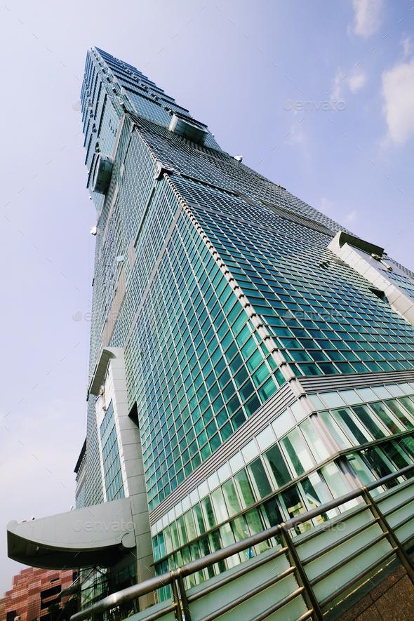 Skyscraper, Taipei 101 Building - Stock Photo - Images