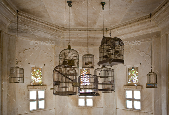 Empty Bird Cages in the City Palace - Stock Photo - Images