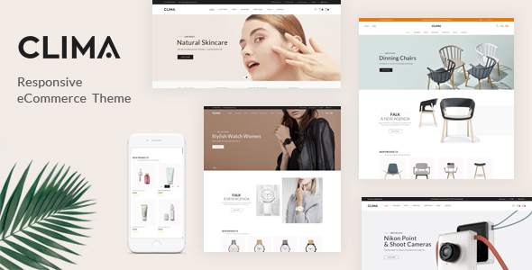 Clima – Responsive OpenCart Theme (Included Color Swatches)