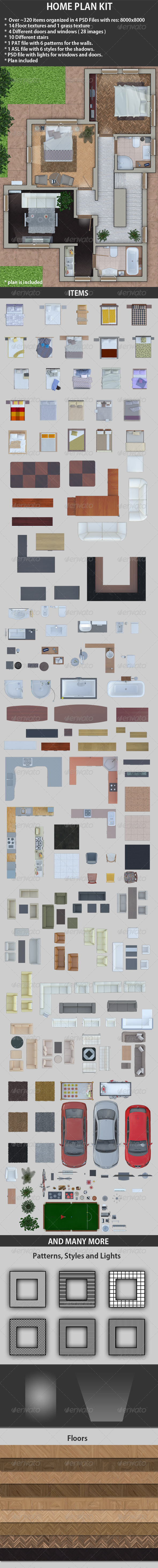 Home Plan Kit - Miscellaneous Product Mock-Ups