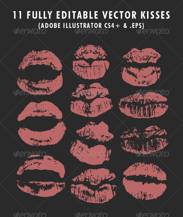11 Kissable Lipstick Vectors - People Characters