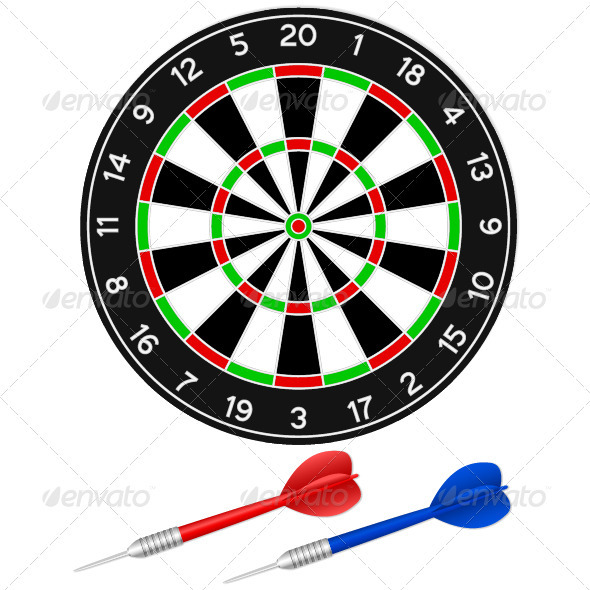 Darts Game - Sports/Activity Conceptual