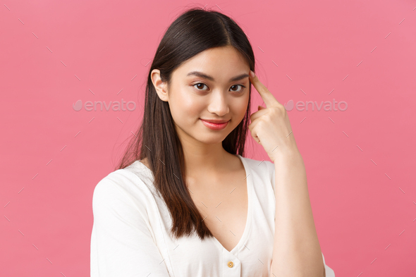 Beauty salon, haircare and skincare products advertisement concept. Close-up of beautiful stylish - Stock Photo - Images