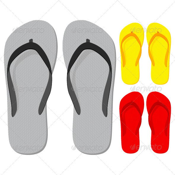 Flip flop - Objects Vectors