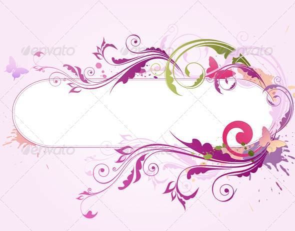 Background with Floral Ornament - Backgrounds Decorative