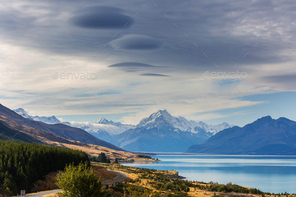 New Zealand lakes - Stock Photo - Images