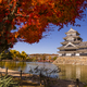 Matsumoto Castle in autumn, Matsumoto, Nagano Prefecture, Japan on morning - PhotoDune Item for Sale