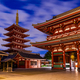 Tokyo - Sensoji-ji, Temple in Asakusa at sunset, Japan - PhotoDune Item for Sale