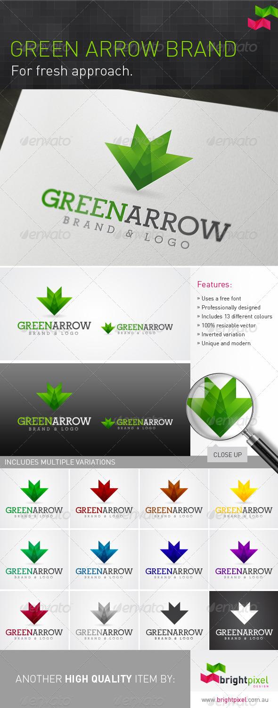 Green Arrow Brand - Nature Logo Templates