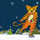 Tiger Skater Winter - GraphicRiver Item for Sale