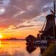 Windmills at Zaanse Schans in Holland on sunset. Zaandam, Nether - PhotoDune Item for Sale