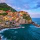 Manarola village on sunset, Cinque Terre, Liguria, Italy - PhotoDune Item for Sale